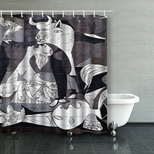 Shower Curtains Custom Decorative Guernica Spain October 10 2015 Tiled Picasso Art Design Waterproof Polyester Fabric Home Bathroom Decor Bath Curtain 66x72 Inches by HomeCOO