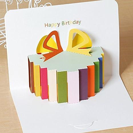 Amazon.com: MITOY Tarjeta de felicitación de papel creativo ...