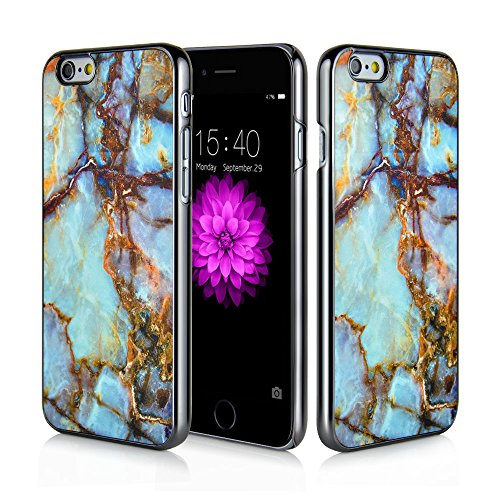 iPhone 6s Plus Case, iPhone 6 Plus MOSNOVO Marble Printing Case, Ultra Thin Protective Design Hard Back Case Custom Printed [HD][Gunmetal] Cellphone Cover for Apple iPhone 6 Plus 5.5 Inch