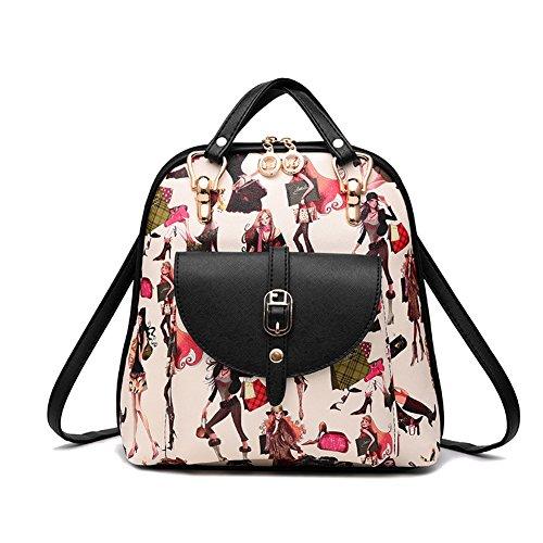 G-AVERIL GA1160-B2 - Bolso mochila para mujer Black2 Black6
