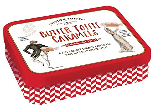 Everton Toffee Butter Toffee Caramels, Original Toffee Flavor (8 oz. tin) Gourmet, Artisan Soft Toffee Caramels, Soft and Creamy Caramel Candy, Small Batch Crafted Chewy Toffee Treats