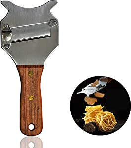 Professional Stainless Steel Truffle Cheese Slicer with Adjustable Blade & Rosewood Handle, Chocolate Shaver Rachel Ray ,Wavy Blade Dessert Knife Kitchen Gadgets