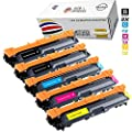 GLB © Brother TN221 TN225 Premium Compatible High Yield Toner Cartridge 5 pack Set(2xBlack , Cyan, Magenta,Yellow) for Brother TN221BK, TN225C, TN225M, TN225Y, for : Compatible with Brother HL-3140, HL-3140CW, HL-3170, HL-3170CDW, MFC-9130, MFC-9130CW, MF