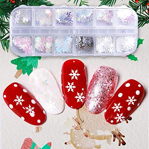 12 Colors Fall Nail Art Stickers (White)