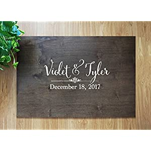 Rustic Wedding Guest Book Alternative Guest Book Wedding Guestbook Alternative Custom Guest Book Wood Guest Book Canvas Wedding Guestbook. Sign #15
