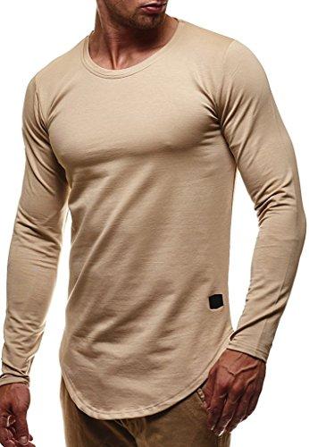 Hoodie Longue Rond Basic Ln6367 Leif Manche Col Pour Shirt Beige Sweater Longsleeve Hoody Sweatshirt Hommes Pullover Des Nelson w7HqYfU
