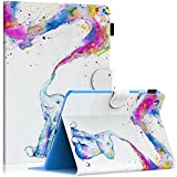 Dteck Case for iPad Mini 5 4 3 2 1 - Slim Fit Folio Stand PU Leather Case Smart Auto Wake Sleep Cover for Apple iPad Mini 1 Mini 2 Mini 3 Mini 4 Mini 5 - Cute Elephant