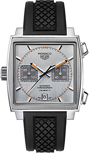 TAG-Heuer-Monaco-Mens-Watch-on-Black-Rubber-Strap-CAW211CFT6021