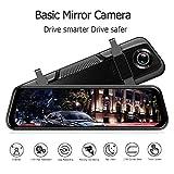 MASO 10' Dual Lens Car DVR Dash Cam Front and Rear Mirror Camera Video Recorder 1080P