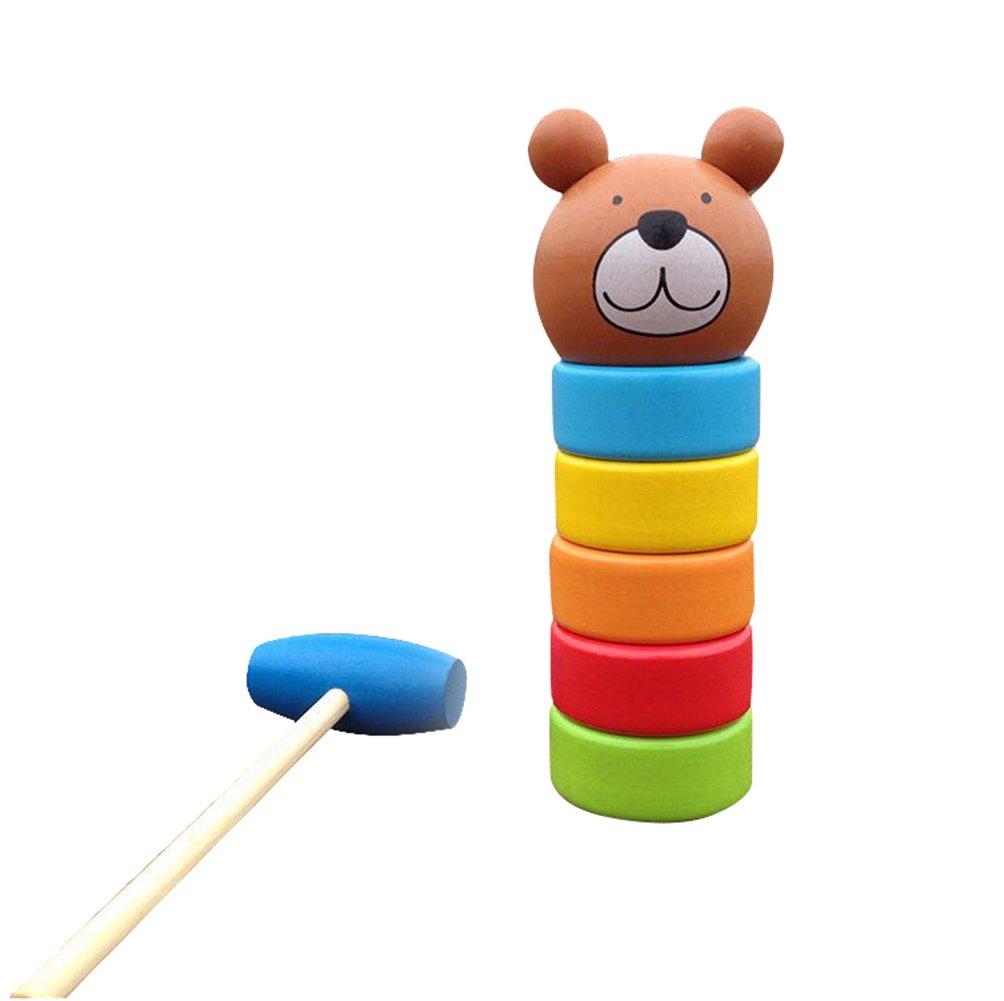 最も優遇 My My ChildlikeカブスHitting Hisレインボータワー重ね木製玩具 B01HA9BR6Y、子供の教育玩具 B01HA9BR6Y, 雑貨工房 暮らそ:4828f57c --- dou13magadan.ru