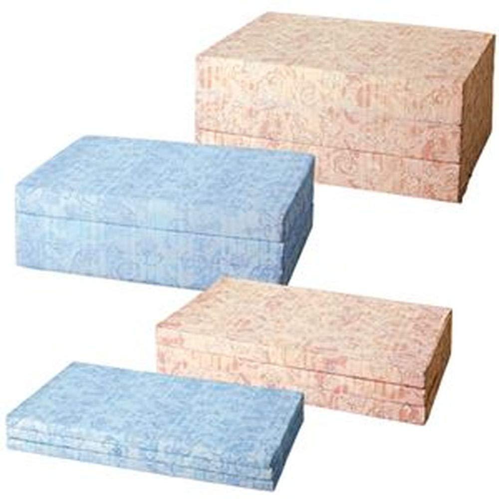 バランスマットレス/三つ折りマットレス/ブルー/セミダブルサイズ/厚さ10cm /ベッド用/布団用 B07TDHLVX7