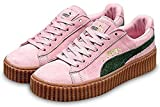 Women's Suede Creepers Satin Rihanna Fenty Creepers Shoes - Pink