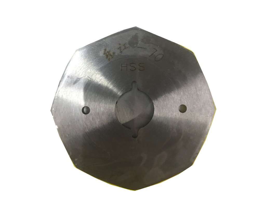 70mm Steel Octagonal Blade Replacement Blade for EL-2, RS-70 Handheld Electric Rotary Fabric Cutting Machine 1PCS
