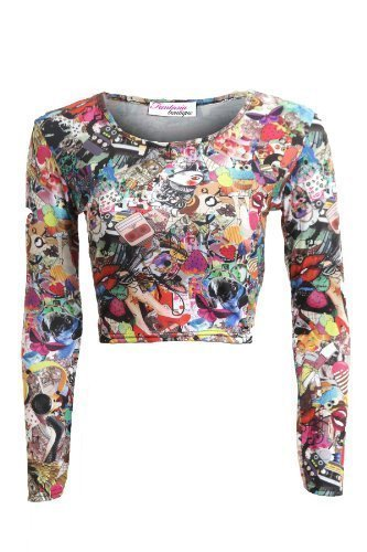 Fantasia Boutique - Camiseta sin mangas - para mujer Negro