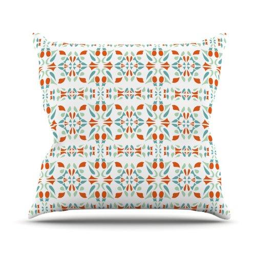 Discount Kess InHouse Miranda Mol Italian Kitchen Orange Green Outdoor Throw Pillow, 16 by 16-Inch hot sale