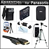 Essential Accessories Bundle Kit For Panasonic DMC-3D1 3D Digital Camera Includes Extended Replacement (1200 maH) DMW-BCG10 Battery + AC/DC Travel Charger + Mini HDMI Cable + USB 2.0 Card Reader + Deluxe Case + 50 Tripod w/Case + Screen Protectors + More