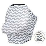 Nursing Cover, ISHOWDEAL Flexible Unisex Super Soft Baby Nursing Breastfeeding Cover Breastfeeding Cover for Boys and Girls Multi-Use Nursing Privacy Cover Shopping Cart and Stroller Carseat Covers