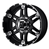 """XD Series by KMC Wheels XD797 Spy Gloss Black Wheel With Machined Face (18x8.5""""/6x139.7mm, +18mm offset)"""