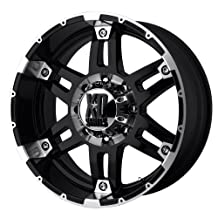 """XD Series by KMC Wheels XD797 Spy Gloss Black Wheel With Machined Face (17x8""""/6x139.7mm, +18mm offset)"""