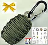 Paracord Survival Grenade EDC Kit | Ultimate Emergency (24pc) Military Grade Wilderness Prepper Gear-Camping Hiking Hunting. Moms Feel Safe! Your Kids can get Food, Fire & Shelter When Lost