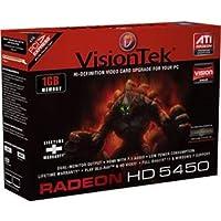 Visiontek 900320 RADEON HD5450 PCIE 1GB LP/ATX DVI-D VGA DP 2X BRCKT WIN7/XP 350W