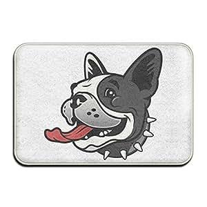 Boston Terrier Niza flor interior puerta alfombrillas
