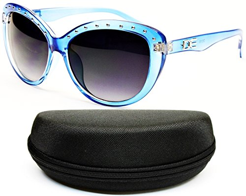 D1067-cc Designer Eyewear cateye Sunglasses (153 Icicle Blue, (Icicles Sunglasses)