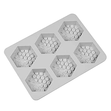 BESTONZON Molde de jabón Molde para Hornear de Silicona Molde para Pasteles Galletas Molde para Chocolate Bandeja de Cubitos de Hielo 6 cavidades: ...