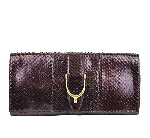 Gucci Women's Python Clutch Bag 304719 (Plum)