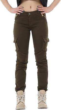 Womens Ladies Burdundy Low Rise Slim Skinny Stretch Combat Trousers Cargo Pants