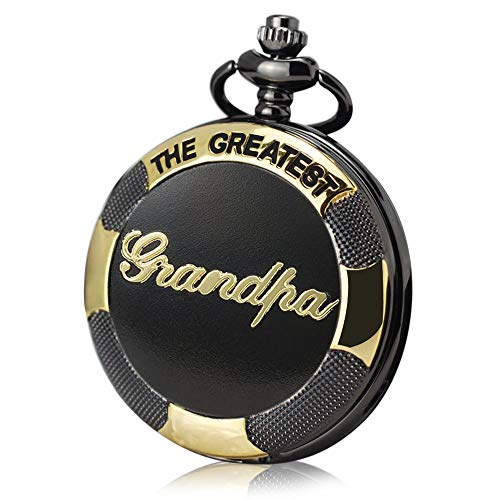 to My Grandpa Pocket Watch| Engraved The Greatest Grandpa Pocket Watch with Chain