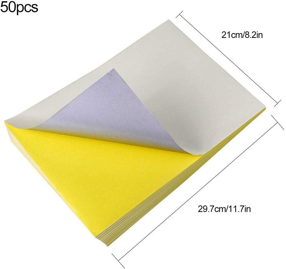 TSLBW 50 Hojas de Papel de impresión A4, Blanco, Resistente al ...