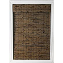Calyx Interiors Bamboo Roman Shade, 40-Inch Width by 54-Inch Height, Java Vintage