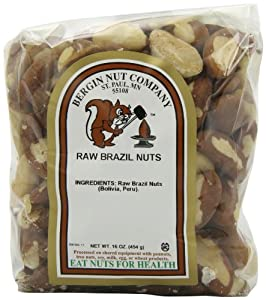 Bergin Nut Company Brazil Nuts Whole Raw, 16-Ounce Bags (Pack of 2) from Bergin Nut Company
