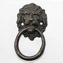 JC Handle Cast Iron Metal 50mm Drop Ring Pull Vintage Black Wood Gate Door Furniture Handle WAH2055