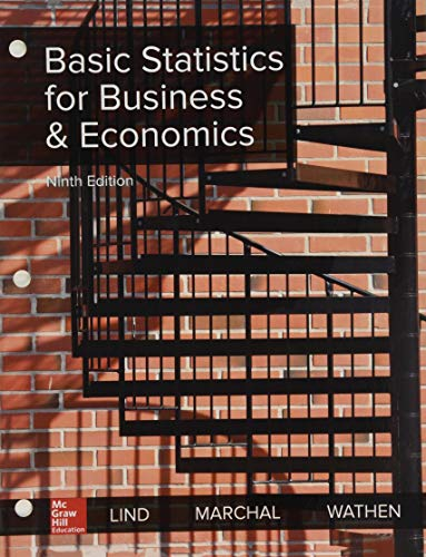 Book cover from GEN COMBO LOOSELEAF STATISTICS FOR BUSINESS & ECONOMICS; CONNECT ACCESS CARD by Douglas A. Lind