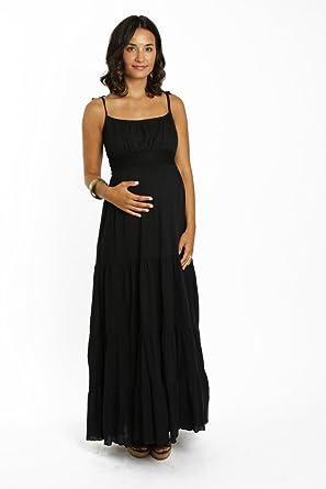4678239c6b6ea Everly Grey Women's Maternity Poppy Maxi Dress, Black at Amazon Women's  Clothing store:
