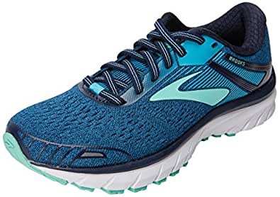 Brooks Women's Adrenaline GTS 18 Navy/Teal/Mint 9.5 EE US EE - Extra Wide