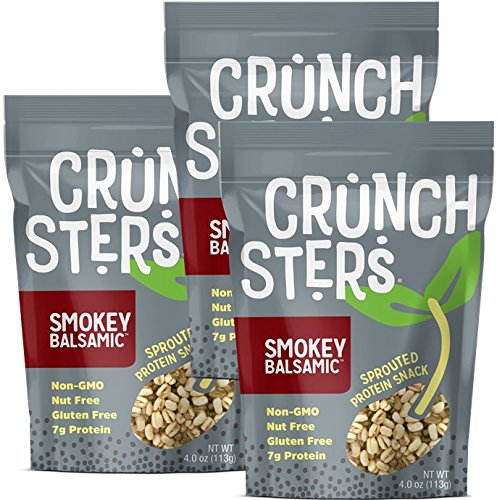 Crunchsters Sprouted Protein Snack Share Size (4 oz) (Smokey Balsamic, 3 Units) ()