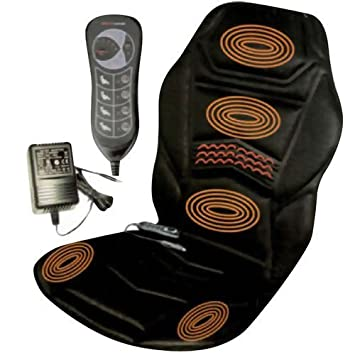 HEATED BACK SEAT MASSAGER CUSHION FOR CHAIR CAR MASSAGE HOME RELAX