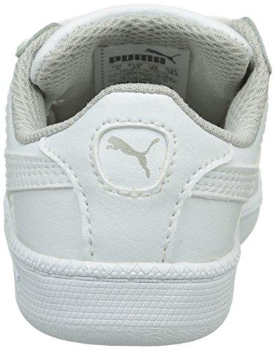 Puma Unisex-Kinder Smash Fun L V Inf Sneaker Weiß (WHITE/WHITE 04WHITE/WHITE 04)