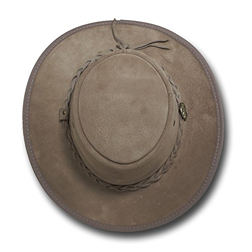 Barmah Hats Foldaway Suede Leather Hat 1066BL / 1066RB / 1066LM / 1066CH - Sand - Large by Barmah Hats (Image #3)