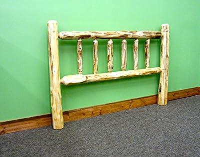 Midwest Log Furniture - Rustic Log Headboard - Twin