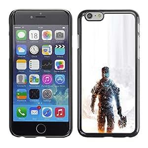 Apple (4.7 inches!!!) iPhone 6 / 6S - Metal de aluminio y de plástico duro Caja del teléfono - Negro - Dead Spac3