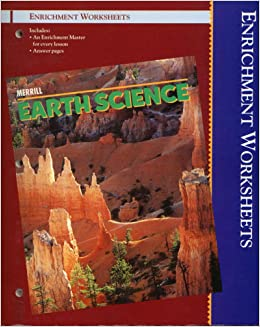 merrill earth science enrichment worksheets unk