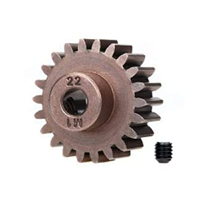 Traxxas 6495X 22-T Pinion Gear, 1.0 Metric Pitch, Fits 5Mm Shaft (Compatible with Steel Spur Gears) Vehicle: Toys & Games