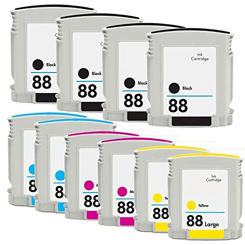 (RIGHTINK 10 Pack (BK C M Y) 88XL High Yield Ink Cartridge Replacement for HP88XL HP 88XL Use for Officejet Pro L7500 L7550 L7580 L7590 L7600 L765 Printers)