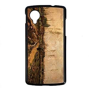 Vincent Van Gogh Design PC Black Case for Google Nexus 5 Morning