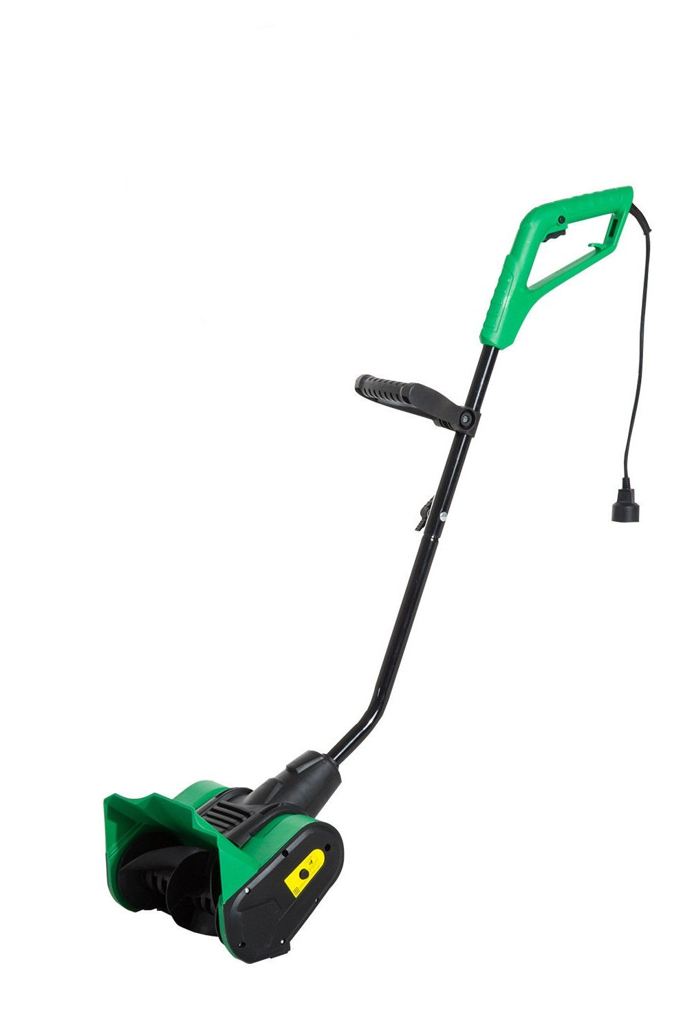 Rolling Power Shovel 12'' Electric 9 Amp Powered Snow Thrower Steel PP Green