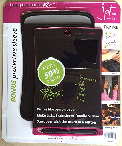 boogie board writing tablet reviews The best boogie board reviews contents you should consider the boogie board pt01085blka0002 writing tablet in black because it is super lightweight.
